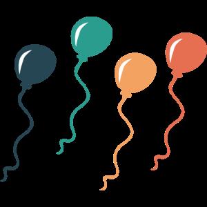 Luftballons Geburtstag Feier