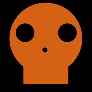 Kürbisfarbener Schädel