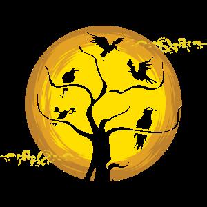 Vollmond Mythologie Geschenk Krähe Rabe