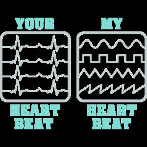 My heart beat Synthesizer Musik Keyboard Geschenk