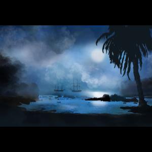Piratenschiffe vor der Küste von Port Royale