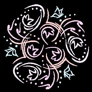 Blumen Mandala Schmetterlinge Pastel