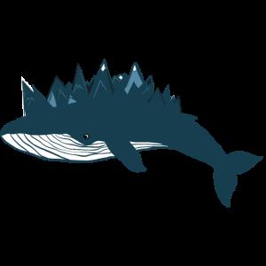 Blauwal Berge Wal Illustration Außergewöhnlich