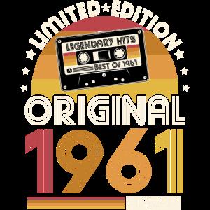 1961 Vintage Jahrgang Geburtstag Retro Geschenk