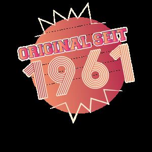 1961 Geburtstag Retro Vintage Lustiges Geschenk