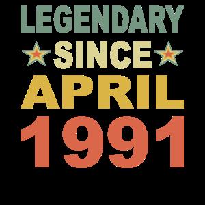 Legendär seit April 1991 Geburtstag Geschenk