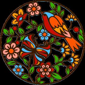 Der Vogel und die Blumen