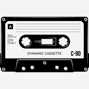 stereo casette tape vintage