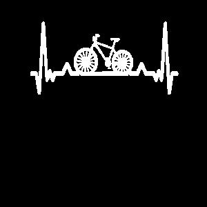 Fahrrad Rad Herzschlag Bike Radfahrer Geschenk