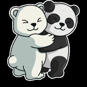 Eisbär Panda Bären niedliche Tiere knuddeln