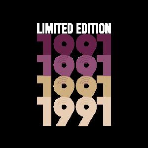 Vintage Limited Edition 1991 Geburtstag Geburtsjah