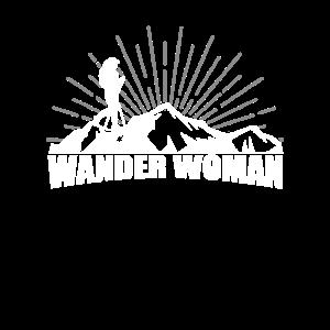 Wanderwoman Damen Wandern Wanderin Berge Natur