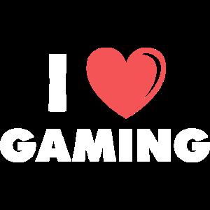 i love gaming heart present friends