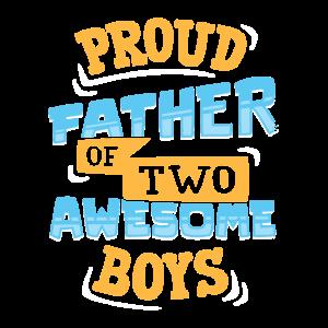 Papa von zwei Jungs Vater Geschenk