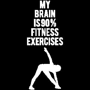 Home Workout Training Fitness Spruch Geschenk