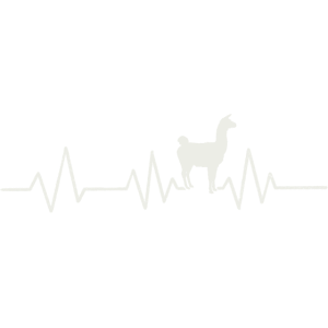 Herzschlag Lama Alpaka Puls Frequenz Equalizer