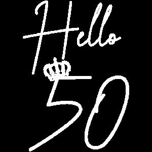 Hallo 50. 50 Jahre Geburtstagsgeschenk