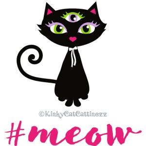 Schwarze Katze - #meow