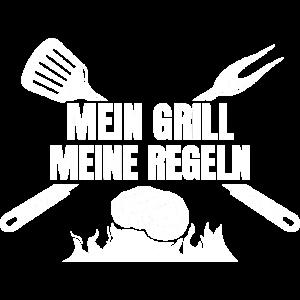Mein Grill Meine Regeln | Griller Grillen Geschenk