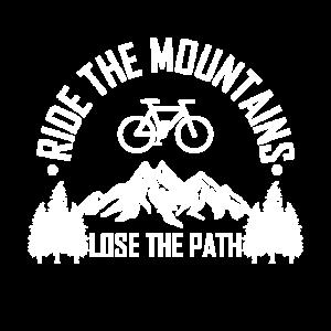 RIDE THE MOUNTAINS Mountainbiker Mountainbike MTB