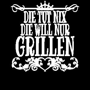 Grillen Spruch Damen Grillmeisterin Grillerin