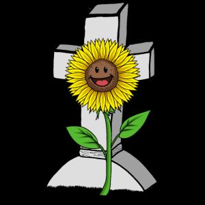 Kreuz Sonnenblume Kreuz Fantasy Blume Grab