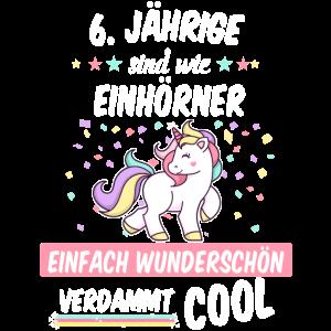 Geburtstag 6 Geburtstag Einhorn Spruch Party