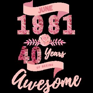 40 Geburtstag 1981 Juni