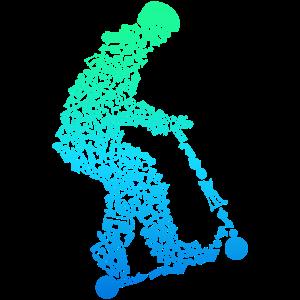 Scooter Roller Stunt E-Scooter Jungen
