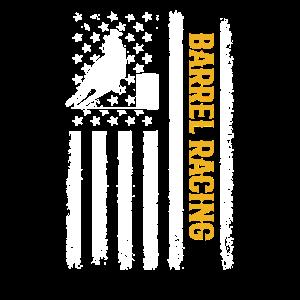 Barrel Racing american flag, barrel racing