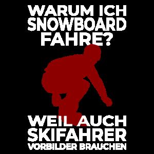 Snowboarderspruch Vorbild Skifahrer Ski