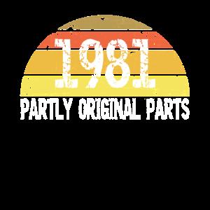 1981 Jahrgang 40 Geburtstag Teils Original Teile
