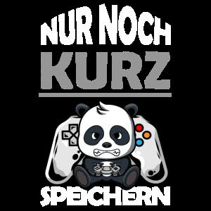 Gamer Panda: Nur noch kurz Speichern