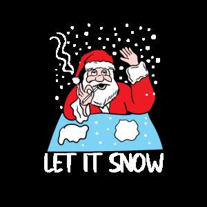 Weihnachtsmann Coks Schnee Nase ziehen lustig