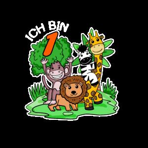 1. Geburtstag Geburtstagsshirt Dschungel