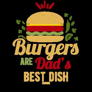 Burger grillen Papa Vatertag Geschenk