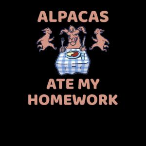 Alpacas ate my homework