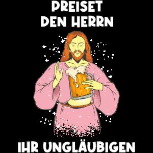 Christi Himmelfahrt Jesus Bier Sprüche Geschenk