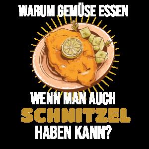 Schnitzel Warum Gemüse essen