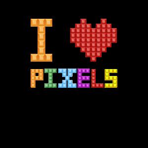Nerd Geek I Love Pixels Geschenkidee