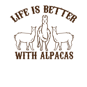 Life is better with Alpacas