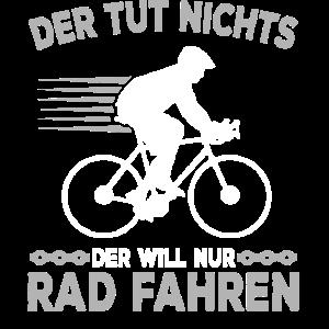 Radfahrer Spruch lustig Fahrradfahren Bike