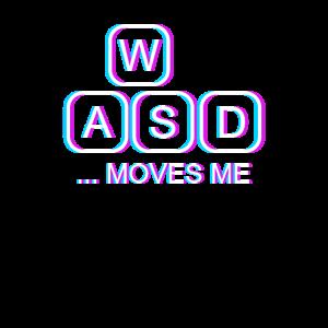 WASD Keyboard Moves Me Keycaps