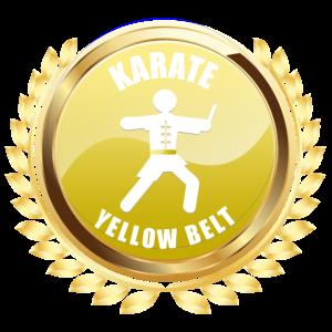 Karate Gelbgürtel Leistung Auszeichnung Emblem Abzeichen