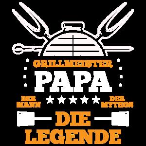 Grillmeister Papa | Grillen Grillfan BBQ Barbecue