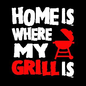 Zuhause und Grillen