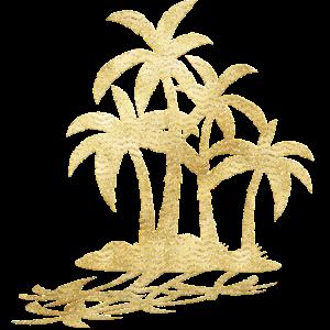 Goldene Palmen Design