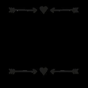 Herz Pfeil Muster Template