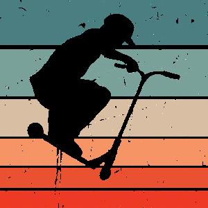 Scooter Stunt Tretroller Stunts Retro Vintage