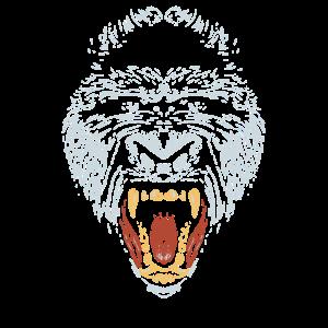 Cooler Gorilla Gesicht   Wütender Gorilla